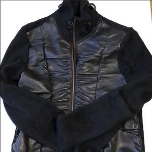 XCVI jacket - leather/wool material size small